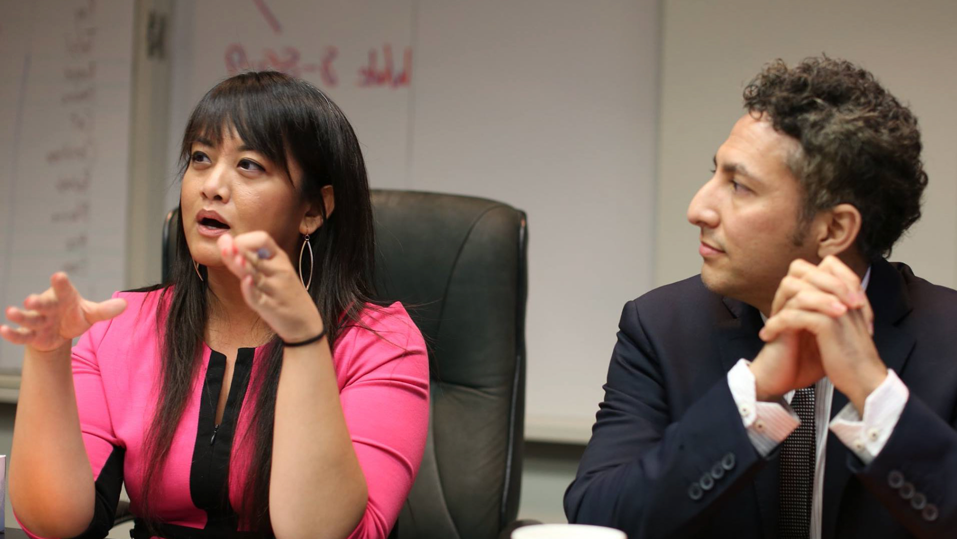 Members of the NLC Los Angeles cohort lead a discussion.